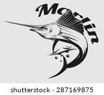 vector logo sea fishing with... | Shutterstock .eps vector #287169875