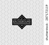 art deco monochrome seamless arabic black and white wallpaper or background with hipster label or badge | Shutterstock vector #287172119