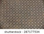 steel grating for non slippery... | Shutterstock . vector #287177534