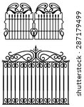 design of forged fences and... | Shutterstock .eps vector #287179499