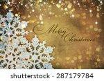 christmas vintage card | Shutterstock . vector #287179784