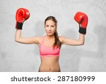 young woman wearing gym clothes.... | Shutterstock . vector #287180999