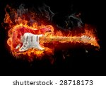 guitar in fire   series of... | Shutterstock . vector #28718173