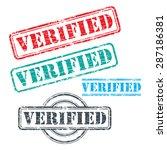 rubber stamp design verified | Shutterstock .eps vector #287186381