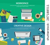 workspace and creative design... | Shutterstock .eps vector #287188511