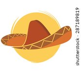 Mexican Sombrero Hat Vector