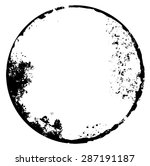 grunge red circle frame texture ... | Shutterstock .eps vector #287191187