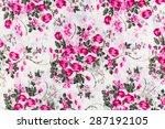 retro tapestry textile pattern... | Shutterstock . vector #287192105