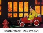 "A Preschool ""fireman"" Sitting..."