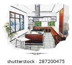 Vector Interior Sketch Design....