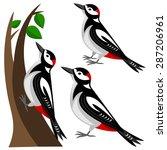 woodpecker | Shutterstock .eps vector #287206961