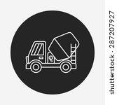 truck line icon   Shutterstock .eps vector #287207927