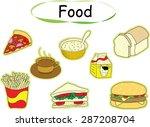 vector drawing food | Shutterstock .eps vector #287208704