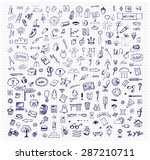 background with hand drawn ink... | Shutterstock .eps vector #287210711