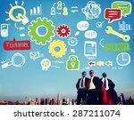 teamwork team collaboration...   Shutterstock . vector #287211074