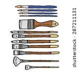 hand drawn brush   Shutterstock .eps vector #287211131