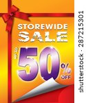 store wide sale up to 50...   Shutterstock . vector #287215301