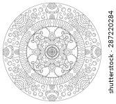 symmetrical circular pattern... | Shutterstock .eps vector #287220284