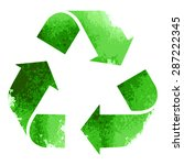 green recycle sign isolated on... | Shutterstock .eps vector #287222345