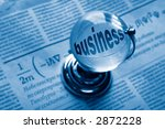 globe and formula of business... | Shutterstock . vector #2872228