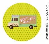 truck theme elements vector eps | Shutterstock .eps vector #287225774