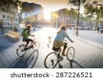 cycling in city | Shutterstock . vector #287226521