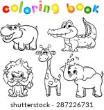 set of wild animals first.... | Shutterstock . vector #287226731