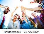 diversity thumb up enjoying... | Shutterstock . vector #287226824