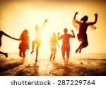 friendship freedom beach summer ... | Shutterstock . vector #287229764