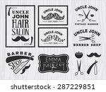 vintage monochrome barber shop... | Shutterstock .eps vector #287229851
