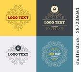 vintage flourishes calligraphic.... | Shutterstock .eps vector #287236061