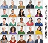 people faces portrait...   Shutterstock . vector #287242337