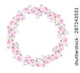 detailed contour wreath with... | Shutterstock .eps vector #287243531