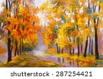Oil Painting Landscape   Autumn ...
