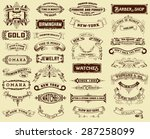 mega pack of labels and banners | Shutterstock .eps vector #287258099