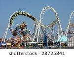 amusement park rides   Shutterstock . vector #28725841