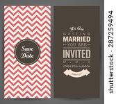 wedding invitation. vector... | Shutterstock .eps vector #287259494