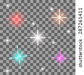 vector colorful flares for your ...