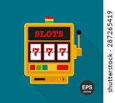 slot machine vector icon | Shutterstock .eps vector #287265419