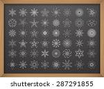 flowers vector icon set on... | Shutterstock .eps vector #287291855