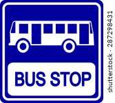 bus stop sign | Shutterstock .eps vector #287298431