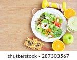 vegetable salad cereal cracker... | Shutterstock . vector #287303567