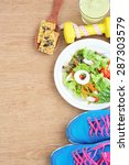 sport and healthy food for diet ...   Shutterstock . vector #287303579