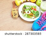 sport and healthy food for diet ...   Shutterstock . vector #287303585