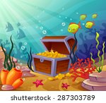 underwater worlds with a ... | Shutterstock .eps vector #287303789