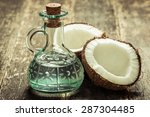 Coconut On Wooden Table.vintag...