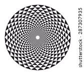 sacred geometry  crown chakra... | Shutterstock .eps vector #287307935
