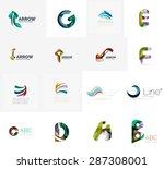 set of new universal company... | Shutterstock .eps vector #287308001