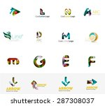 set of new universal company... | Shutterstock .eps vector #287308037