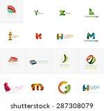 set of new universal company... | Shutterstock .eps vector #287308079
